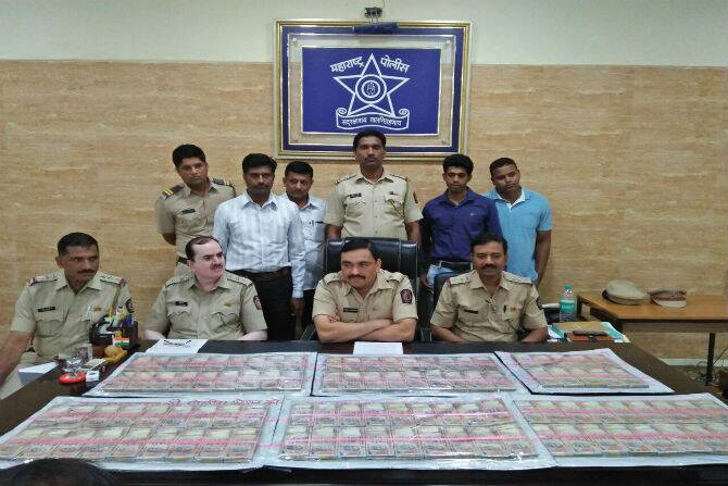 old notes, crore seized, thane