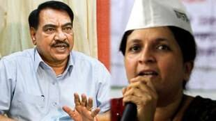 Anjali Damania , BJP , Eknath Khadse , Devendra Fadnavis , cabinet expansion in maharashtra , Anjali Damania demands to file molestation case against BJP leader Eknath Khadse , Loksatta, Loksatta news, Marathi, Marathi news