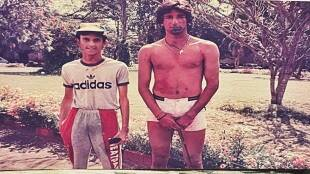former pakistani cricketer wasim akrams old holi picture goes viral