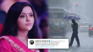 After the water started accumulating in Mumbai Amrita Fadnavis tweeted and indirectly attacked the Shiv Sena abn 97After the water started accumulating in Mumbai Amrita Fadnavis tweeted and indirectly attacked the Shiv Sena