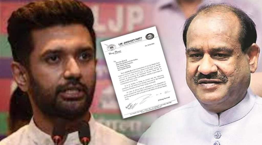 Chirag Paswan writes to LS Speaker Om Birla
