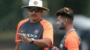 Ravi Shastri and Rishabh Pant