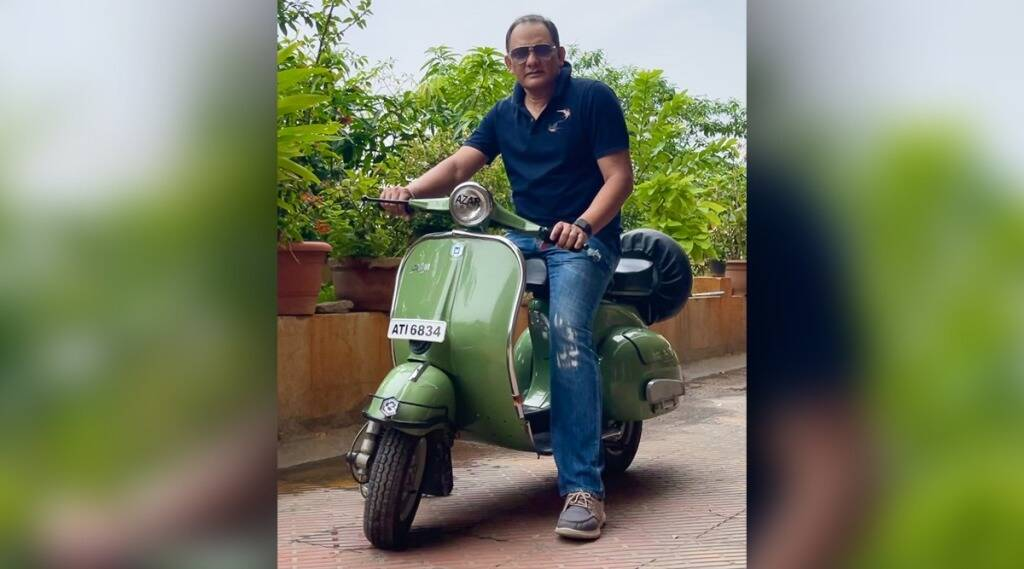 India former captain mohammad azharuddin posts photos of old scooter