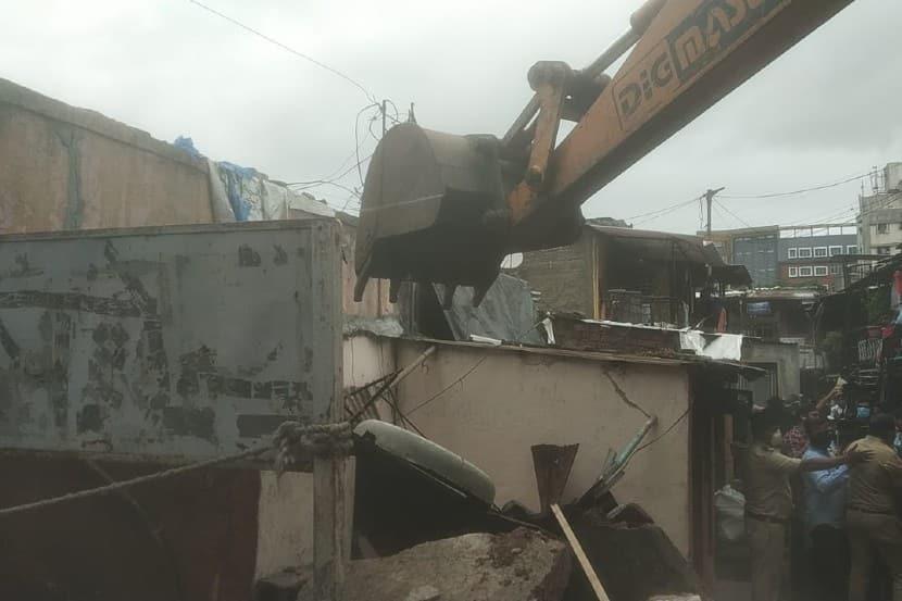ambil odha encroachment, pune ambil odha news, builder reaction on demolition
