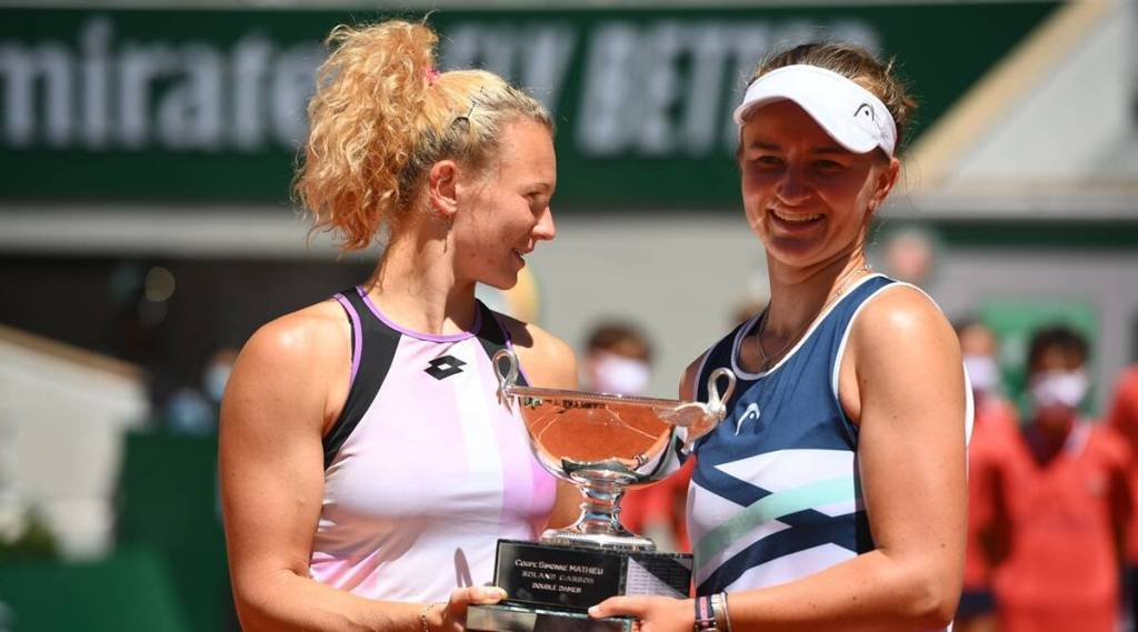barbora krejcikova adds womens doubles to singles title at french open 2021