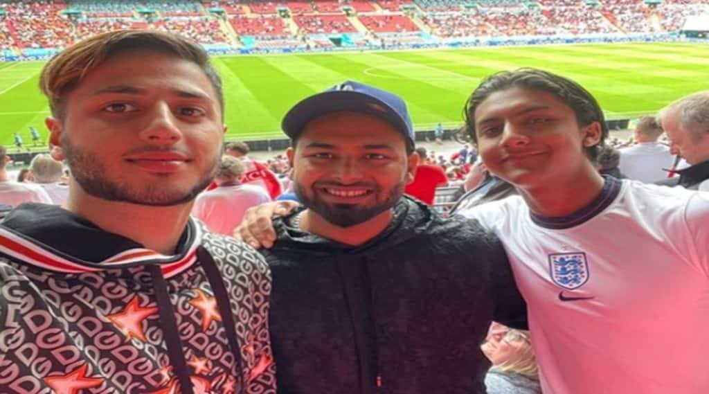 Rishabh Pant enjoying the England-Germany football match