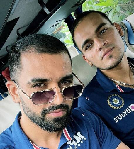 Team India captured moments while travelling to sri lanka
