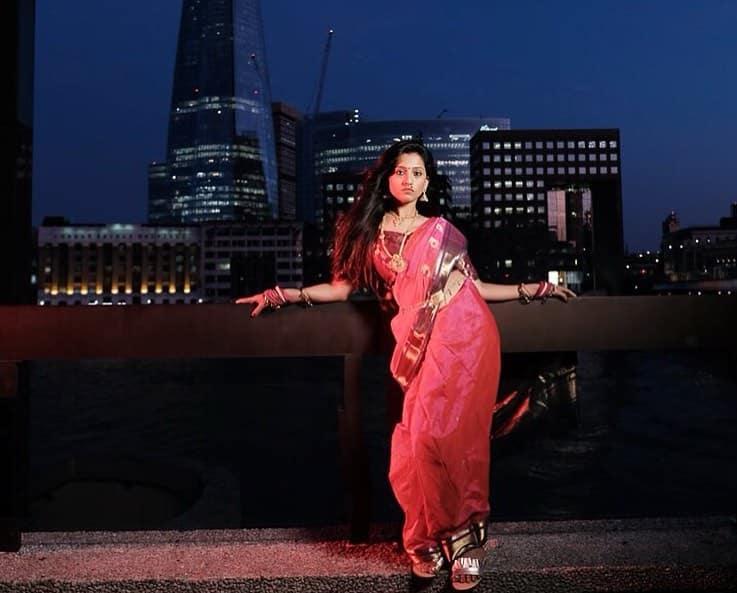Maharashtrian saree on the streets of London