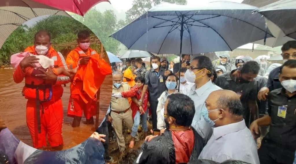cm uddhav thackeray, Raigad Landslide, Mahad landslinde, Taliye Village, Maharashtra Landslide and flood