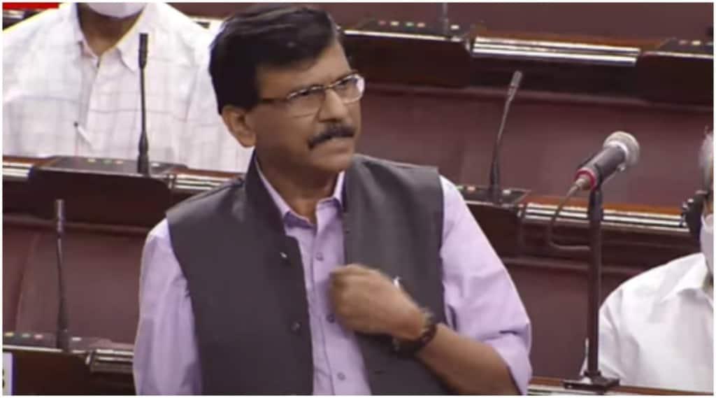 Sanjay Raut angry on Modi government in Rajya Sabha