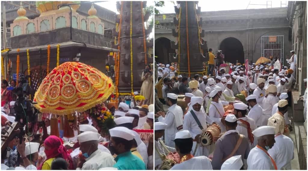 Tukaram Maharaj Palkhi leaves for Pandharpur