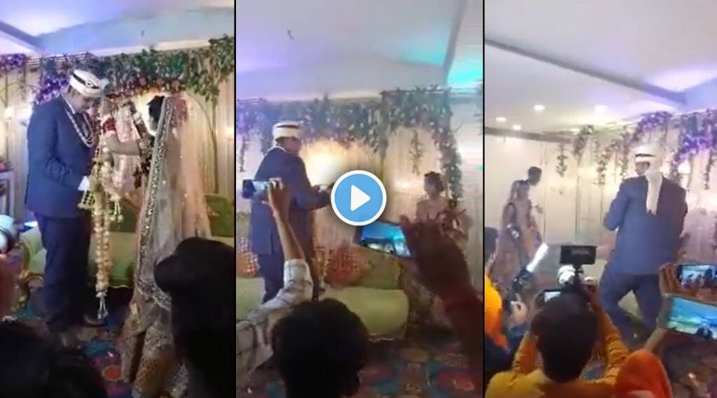 bride ran around stage to tease groom Netizens jokingly said Hey this is kabaddi gst 97