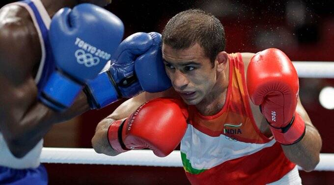 Tokyo olympics boxer amit panghal loses in the pre quarterfinals