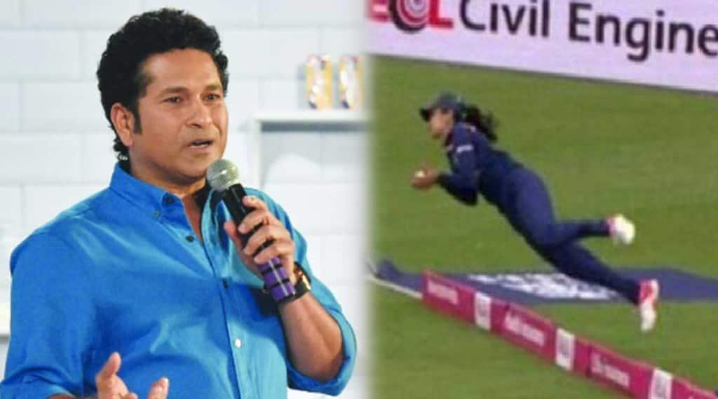 Harleen Deol Super Catch Video, Sachin tendulkar reaction, India vs England Women 1st T 20