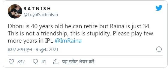 Fans trolled suresh raina for his latest statement on ms dhoni
