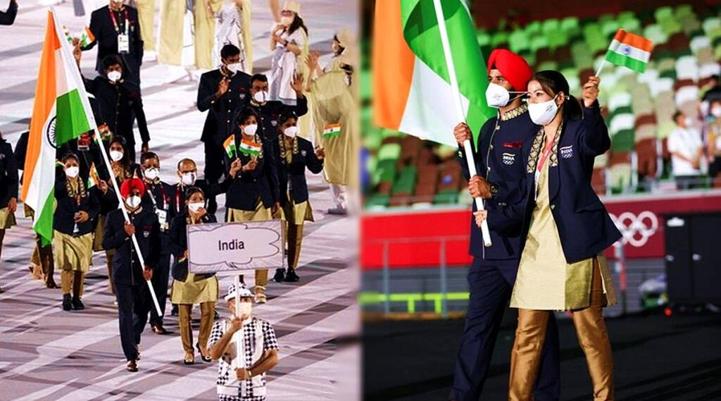 tokyo olympics 2020 indian team in opening ceremony