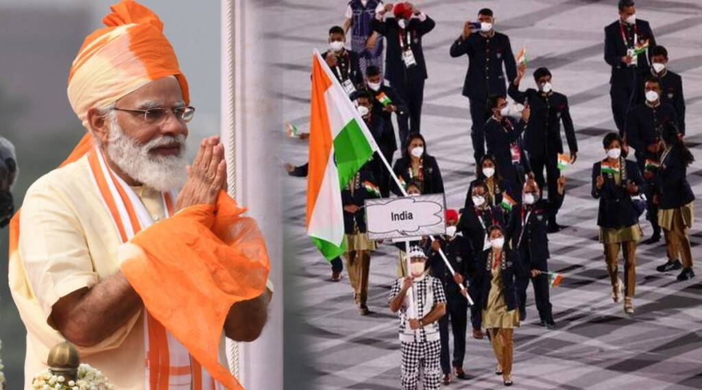 Modi and Olympic contingent Tokyo