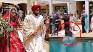 wedding photographer falls into swimming pool Video viral gst 97