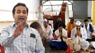Shivsena MLA Bhaskar Jadhav Son Temple Video Nitesh Rane Criticizes MVA Government gst 97