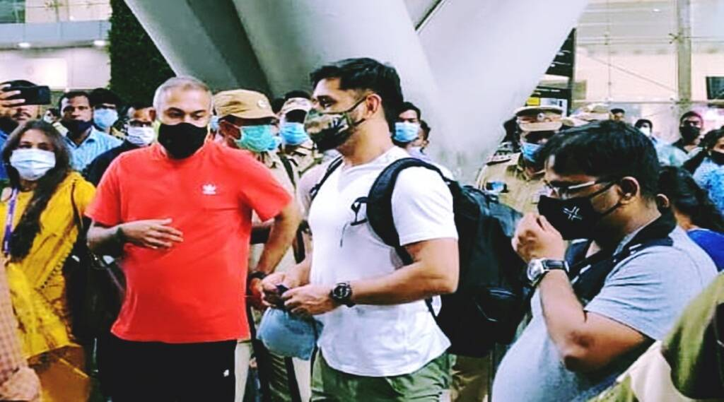 ms dhoni has arrived in chennai for the second phase of ipl 2021