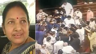 rajyasabha chaos marshal congress mp