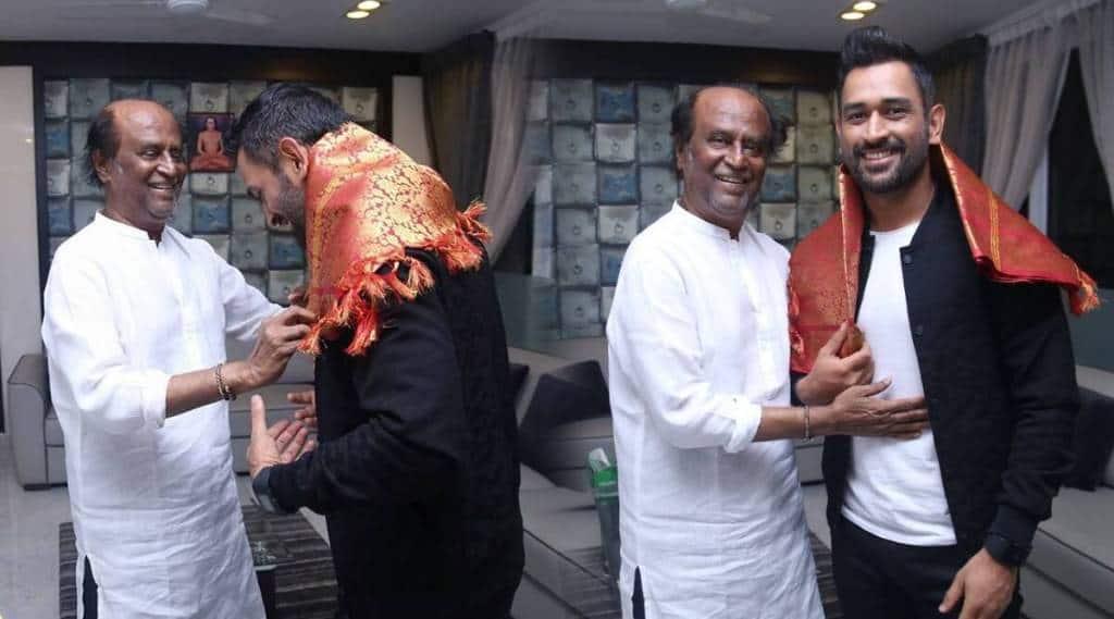 Dhoni and Rajinikanth