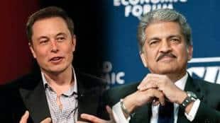 Elon Musk and Anand Mahindra