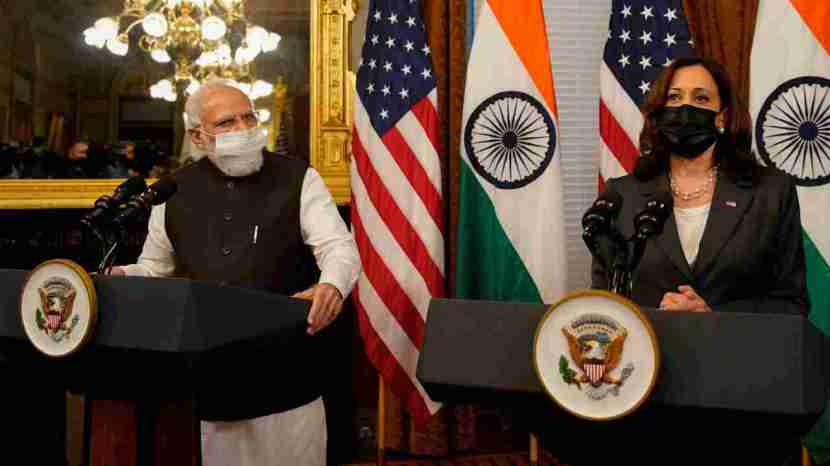 Modi kamala harris meeting