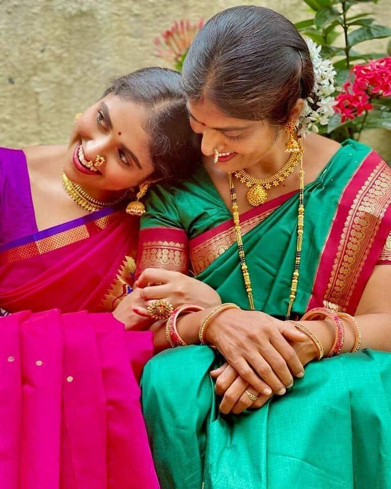 Rinku Rajguru Asha Rajguru Saree Photos
