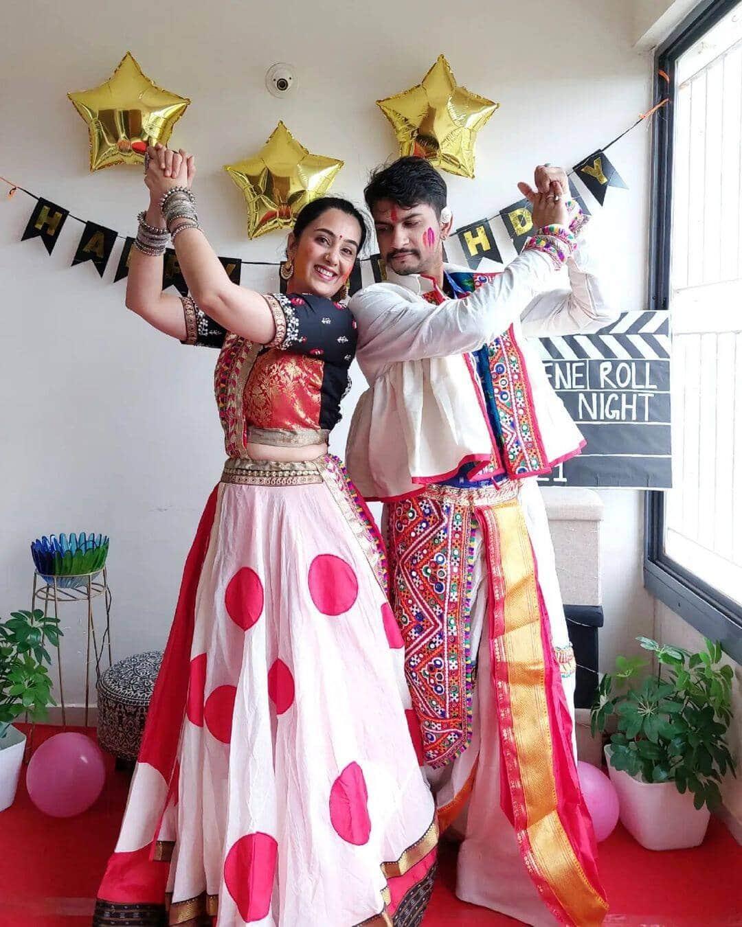 Sai Lokur Roy Tirthadeep Roy Birthday Party Ramleela Look