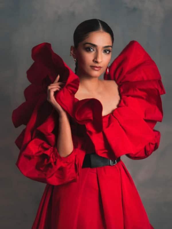 Sonam Kapoor Ahuja Red Dress