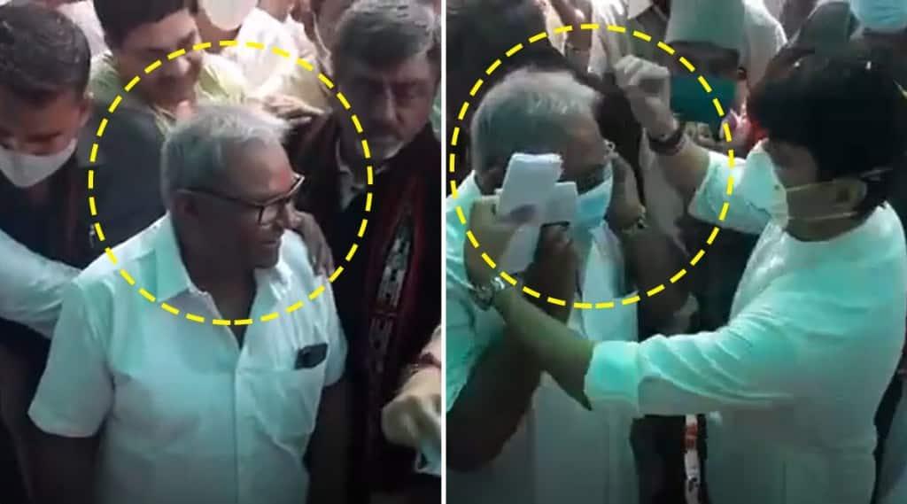 Union minister jyotiraditya scindia mask arun mishra