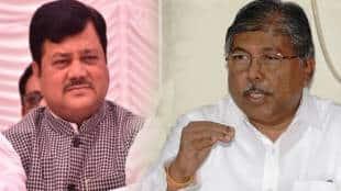 BJP Chandrakant Patil Defends Praveen Darekar For His Statement On Surekha Punekar NCP gst 97