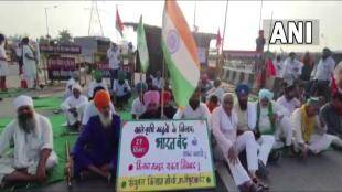 bharatb band 27th September Farmers protest at Ghazipur border