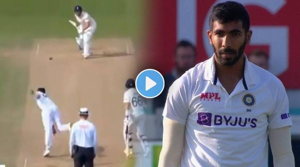 eng vs ind pacer jasprit bumrah clean bowled jonny bairstow with yorker