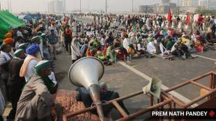 farmers protest photo indian express