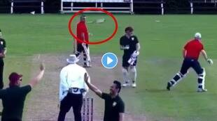 Kevin Pietersen shared a funny video of old age batsmen hitting team mate after being run out