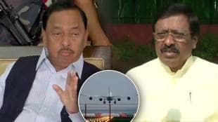 Narayan Rane center Nilesh Rane criticizes Vinayak Raut from chipi Airport