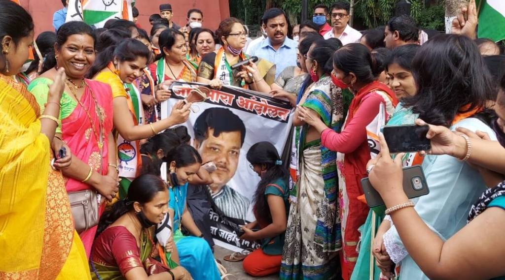 Protest by NCP Women Congress in Pune