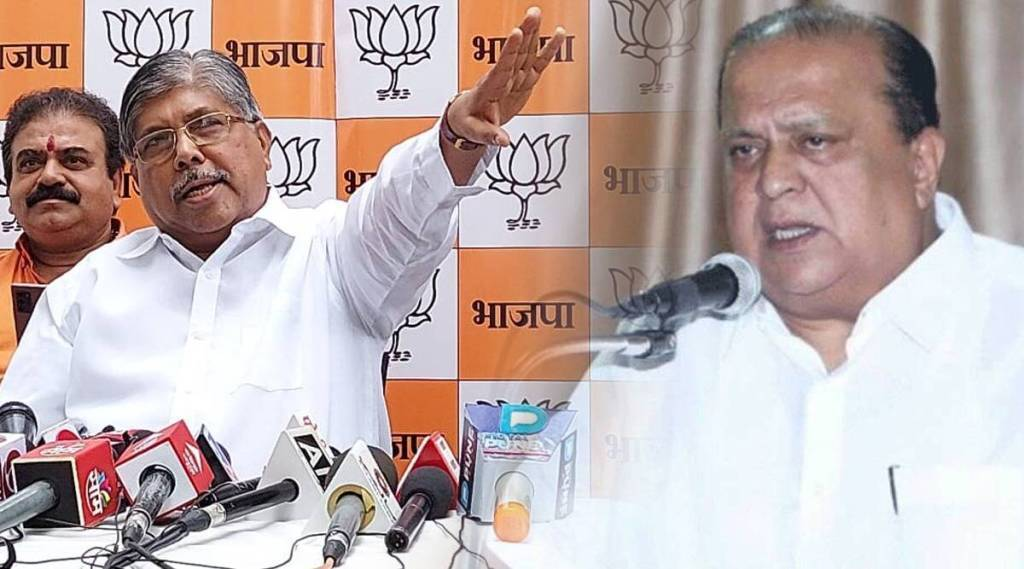 Fight the law fight the law Chandrakant Patil reply to Hasan Mushrif allegations