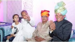 Ashok Gehlot with his Brother