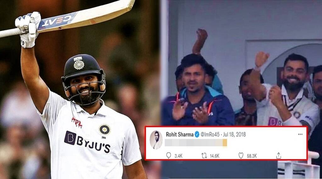 ind vs eng rohit sharmas three year old tweet went viral after his century at oval