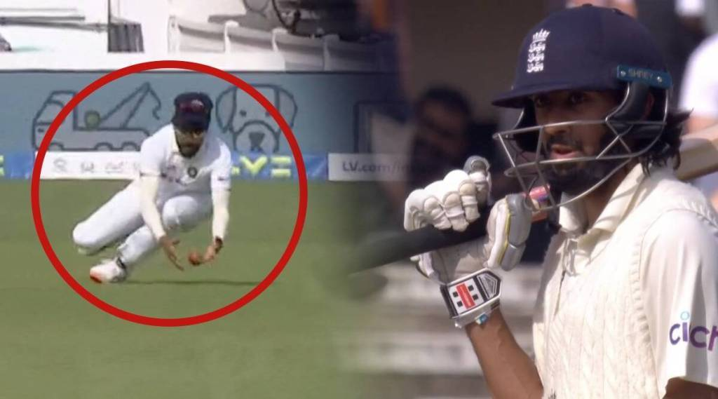 eng vs ind mohammed siraj dropped haseeb hamid on day five of oval test