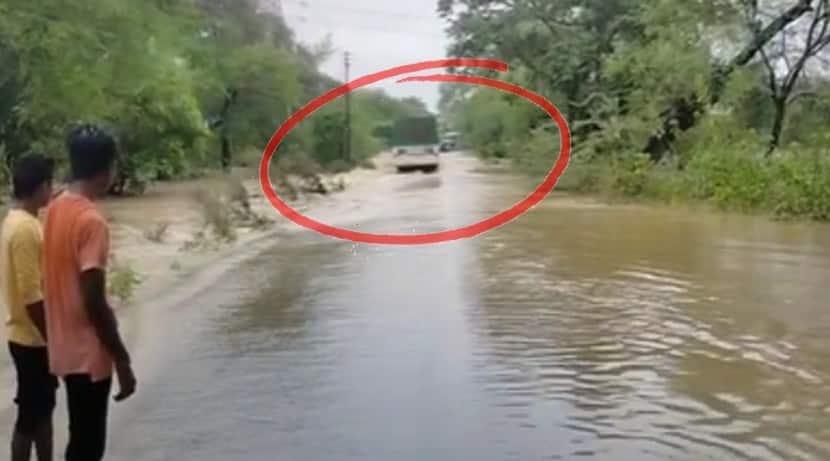 Yavatmal ST bus washed away in flood waters