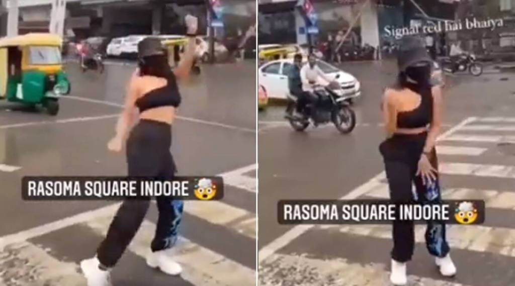 viral video of indore women