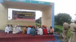 Bhajan Satyagraha on Wardha-Nagpur Highway in protest of agricultural laws