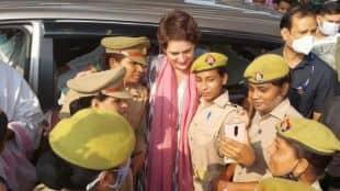 Congress, Priyanka Gandhi, policewomen, selfie