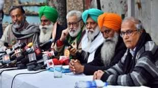 Farmer leaders Darshan pal, BS Rajewal, Gurnam Singh Charuni, Jagjit Singh Dallewal,during a press conference