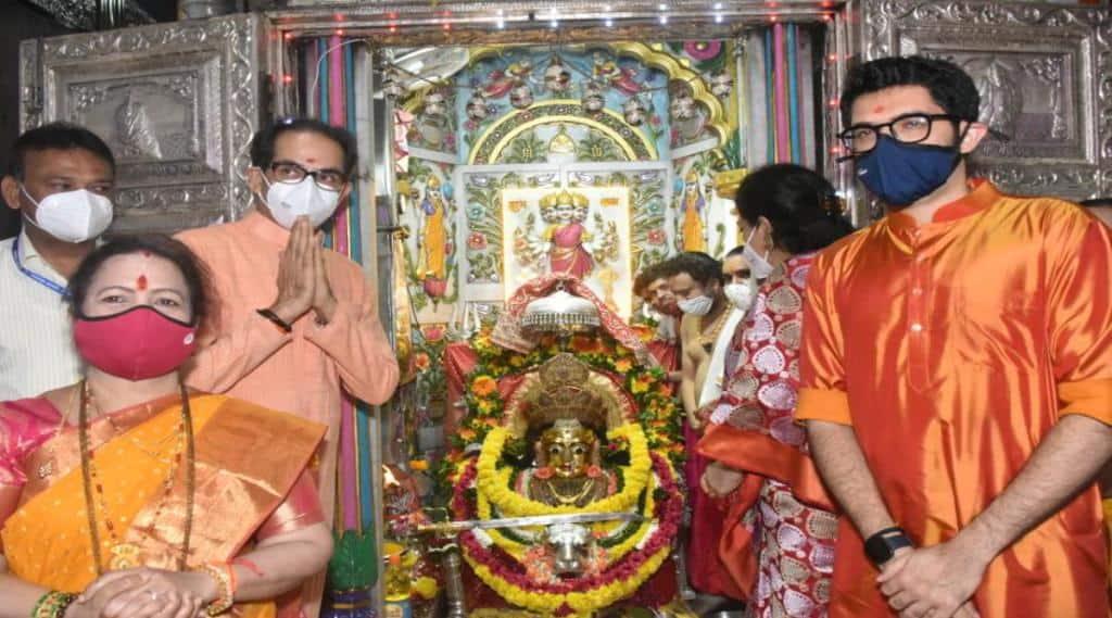 Chief Minister Uddhav Thackeray visited Mumbadevi with his family
