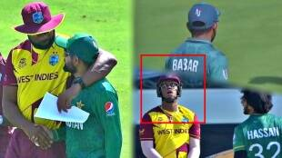 t20 wc babar azam shows sportsmanship in warm up match against west indies